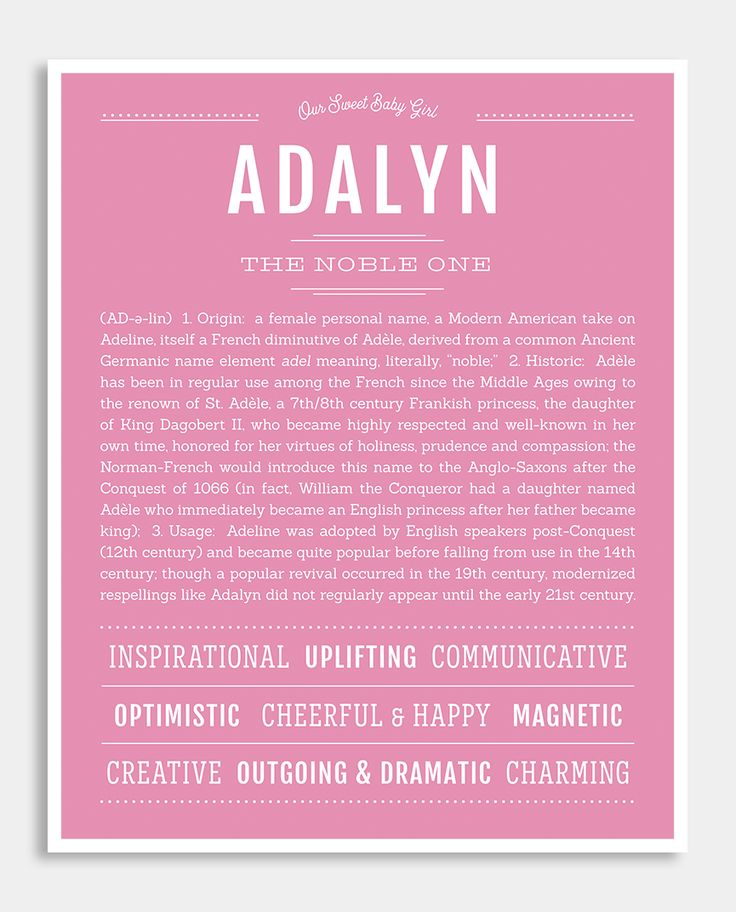 Adalyn | Classic Name Print | Classic names, Personalized ...