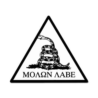 Molon Labe Dont Tread on Me Gadsden Vinyl Sticker  Car Phone Helmet  SELECT SIZE >>> You can find out more details at the link of the image.