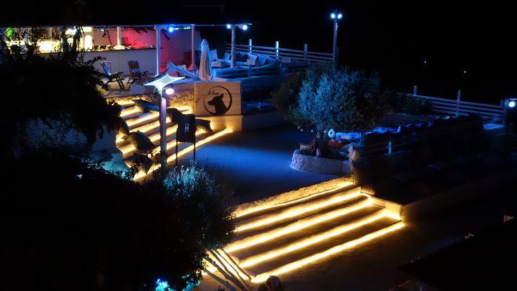Terrazze Kibar in notturna(Hotel Chiaia di Luna, Isola di Ponza)