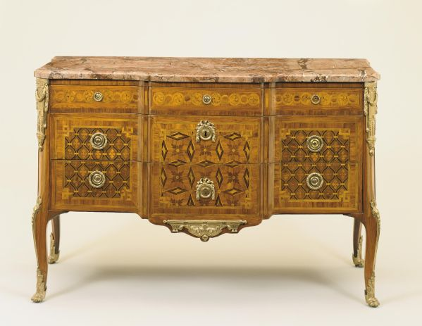 Commode A La Greque Circa 1775 On Display In The Entry