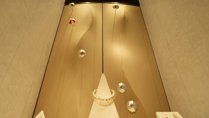 "Dessert Sunshade - Shop window design by Mohammad Ali Ziaei & Lukas Bast for ""Schullin Wien"""