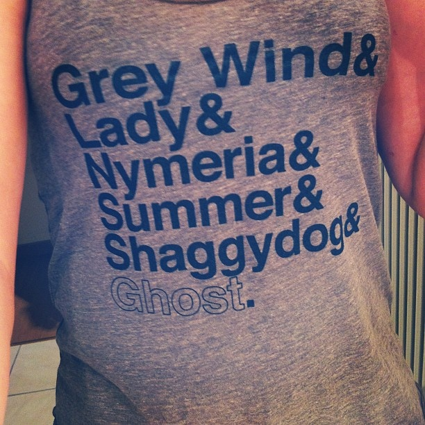 Game of Thrones tee. #GOT #tee #etsy #finds #wolves #names