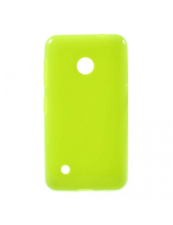 Γυαλιστερή Θήκη Σιλικόνης TPU για Nokia Lumia 530 RM-1017 RM-1019 - Πράσινο