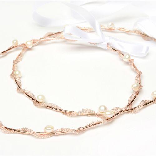 Thalassa Rose Gold Stefana - Wedding Crowns