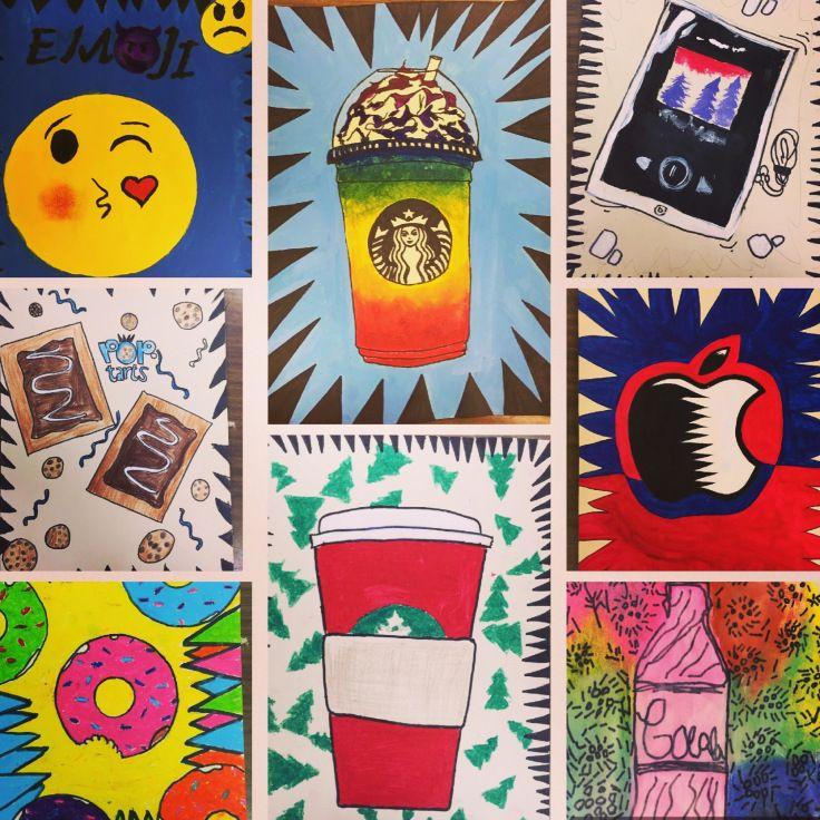 Burton morris inspired pop art projects mrsoranges
