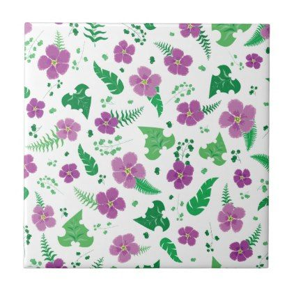 Purple Hibiscus Tile - trendy gifts cool gift ideas customize