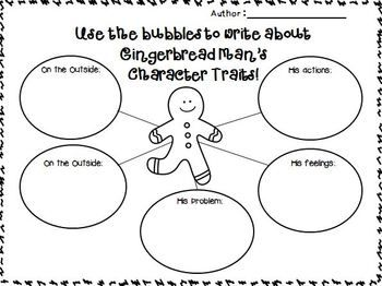 Gingerbread on nd and as for Gingerbread man story map template