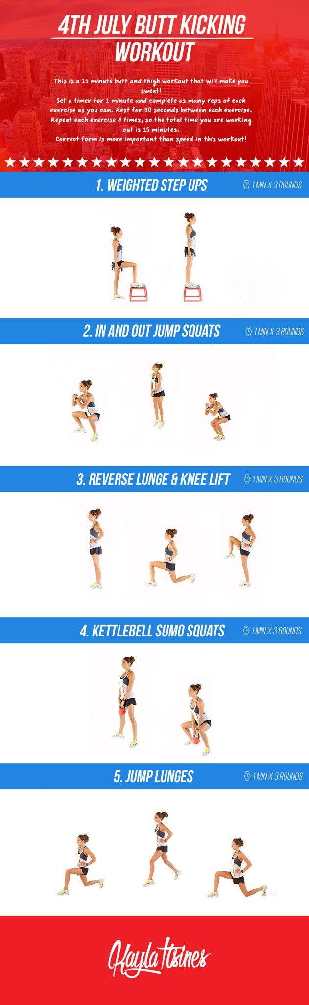 4th July Butt Kicking Workout! – Kayla Itsines