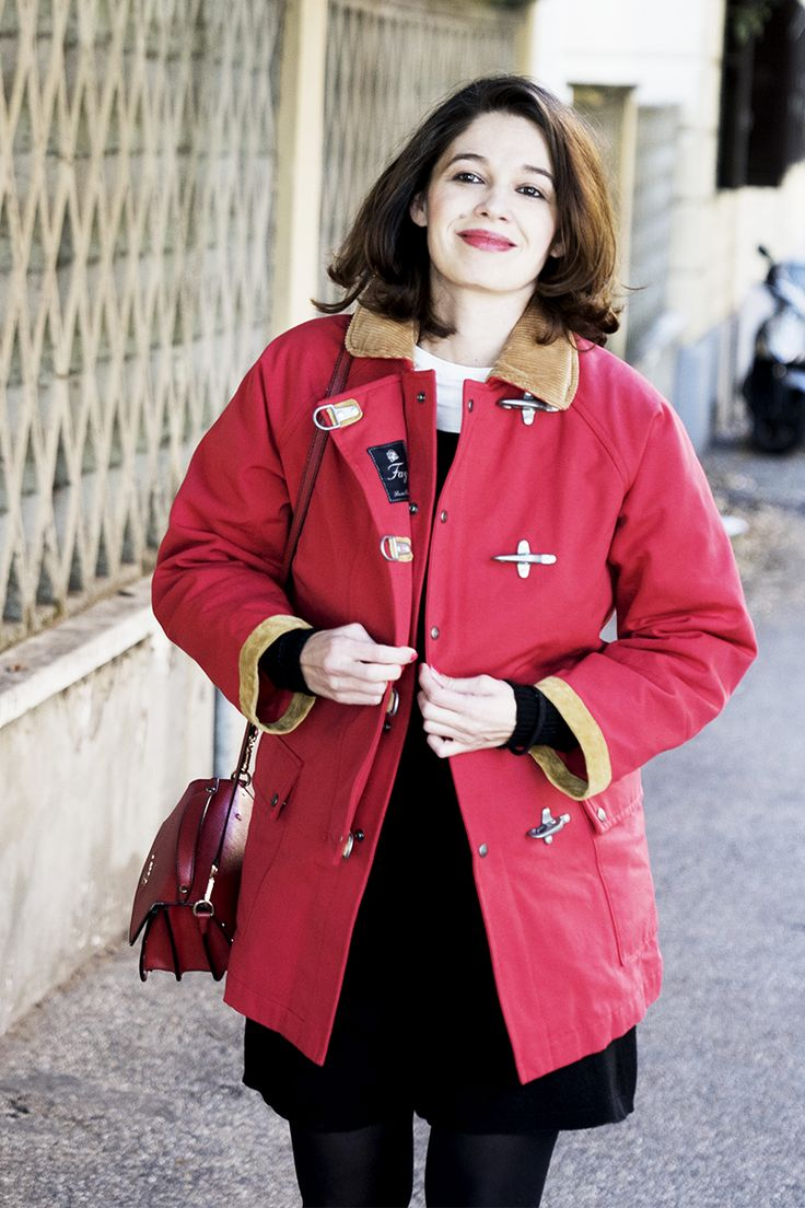 Standout tones: Ana Caterina Morariu looking bright wearing her Limited Edition Fay 4 Ganci Jacket in red.