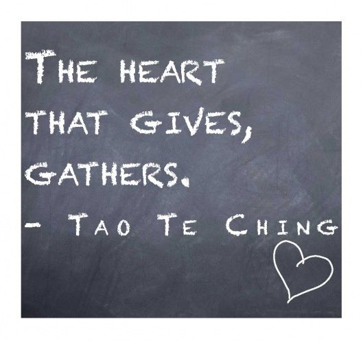 Taoism quotes | Give It Away: Hope for the Holidays