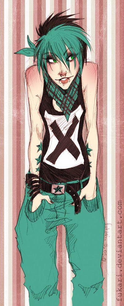 pink. turquoise. punk. by Fukari.deviantart.com on @deviantART