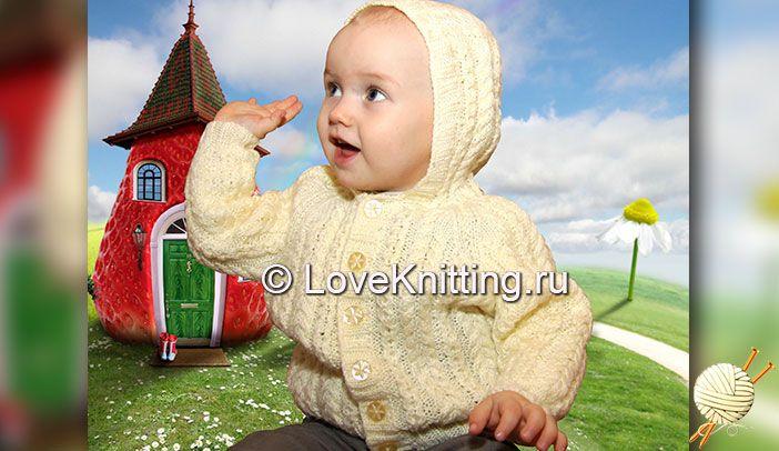 Жакет с капюшоном   Loveknitting.ru