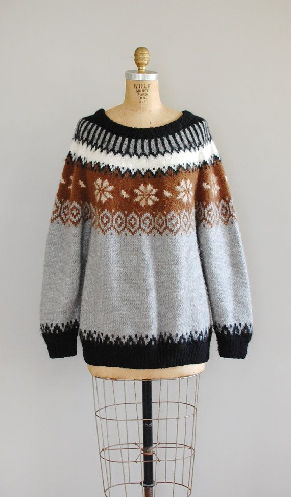 fair isle sweater / folk wool sweater / Alpaca Fair by DearGolden
