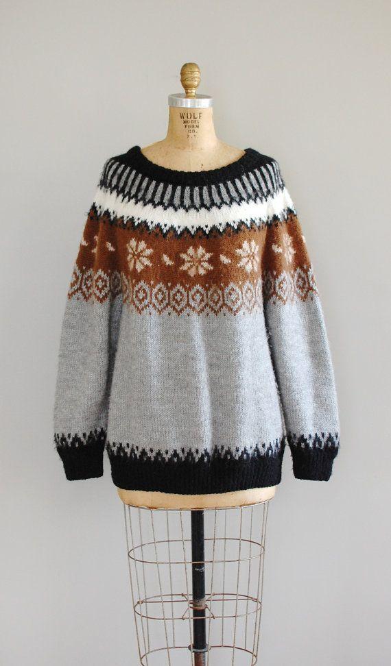 fair isle sweater / folk wool sweater / Alpaca Fair by DearGolden
