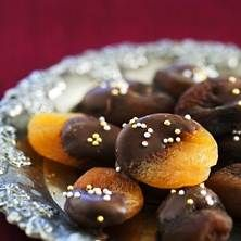 Chokladdoppade aprikoser