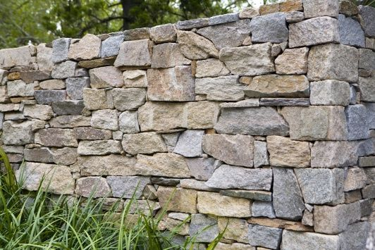 Eco Outdoor - Walling - Dry Stone - Alpine Fire place, garden retaining walls and pool wall feature