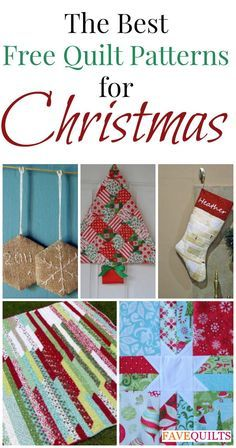 """The Best Free Quilt Patterns for Christmas: 10 Quilt Blocks, Christmas Ornaments to Make, and More"" eBook 