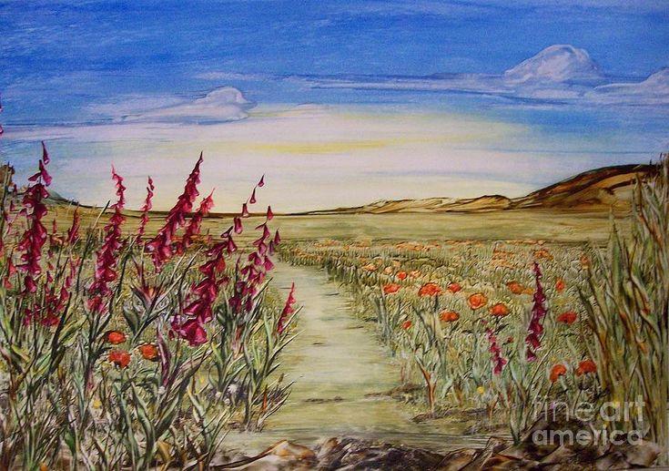 Meadow Painting - Meadow Stream by Carol Ellis