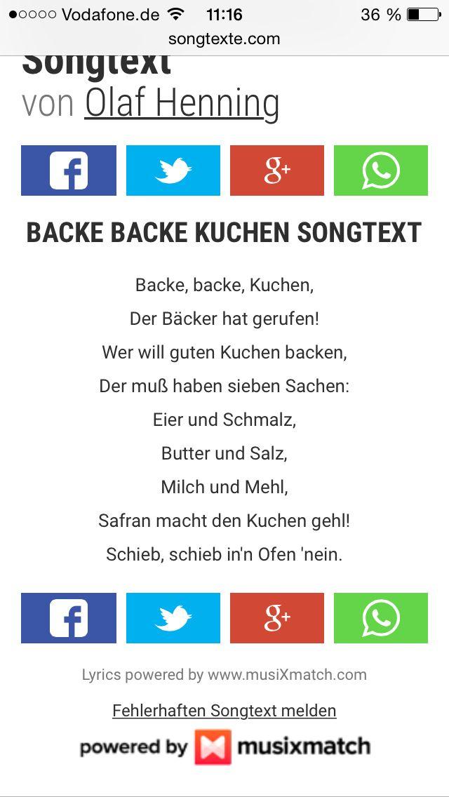 Backe Backe Kuchen Kuchen Ohne Backen Beste Kuchen Olaf Henning