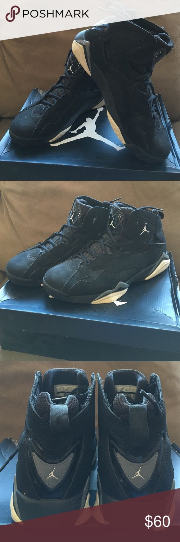 NIKE Jordan True Flights Black/White/Cool Grey Nike Jordan True Flight sneakers. Size 9 in MENS. Good condition: 8.5/10.  Will be washed before shipping. Nike Shoes Sneakers