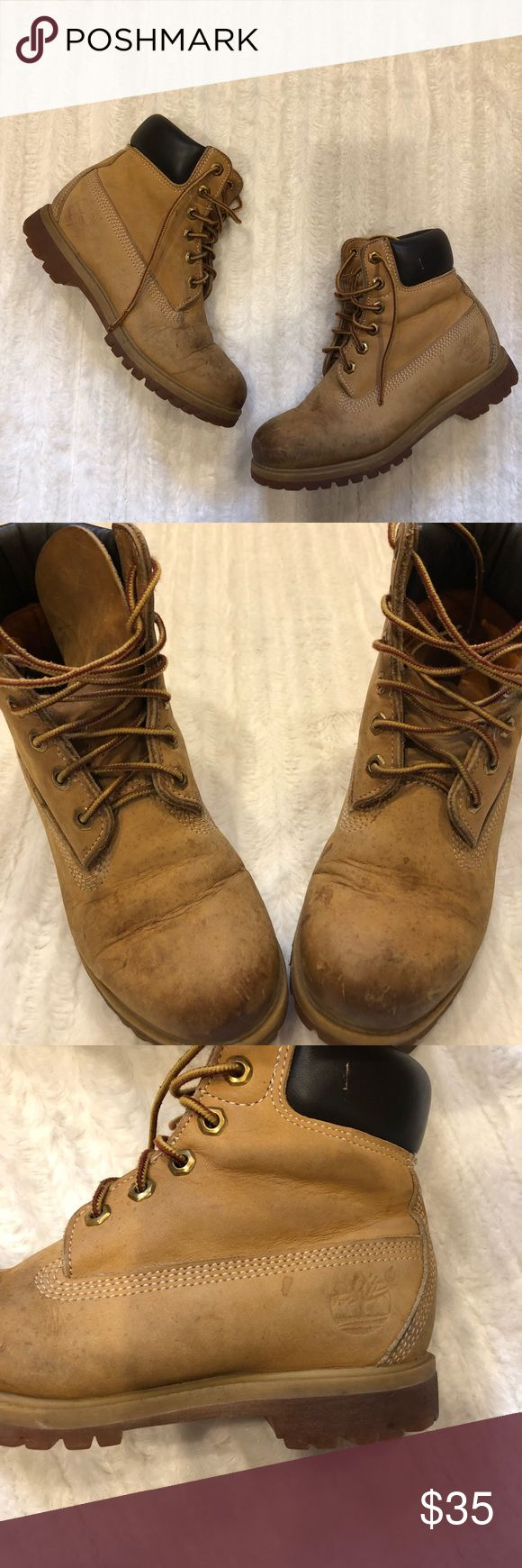 Timberland Women's Boots Size 6 These are well worn Timberland boots as shown in the pictures.  But they still have life left!  Price is negotiable. Size 6. Timberland Shoes Lace Up Boots