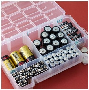 I have been searching for a good way to keep batteries contained.