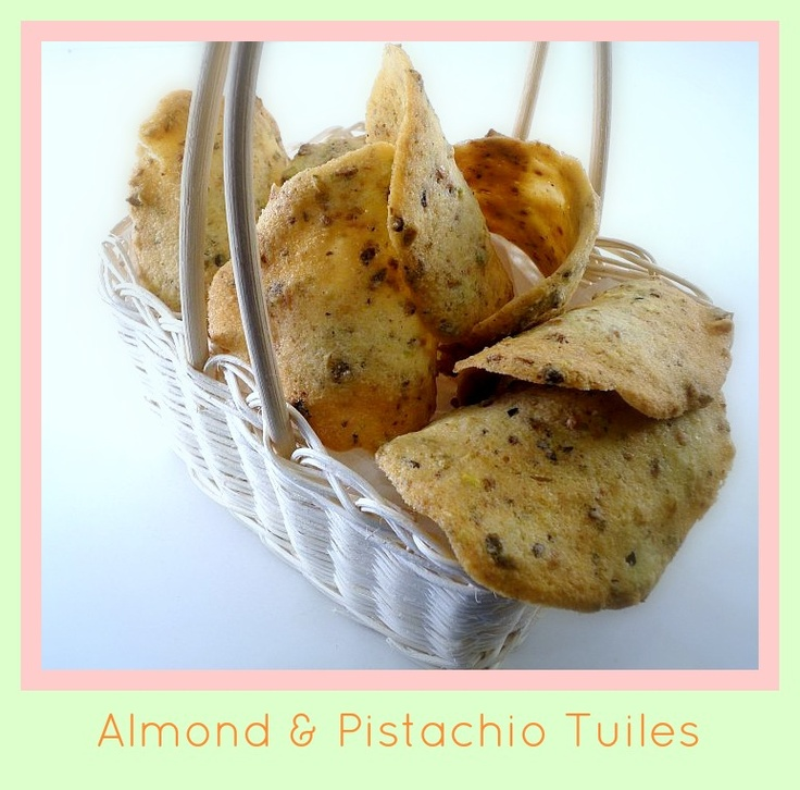 Major Cake's Kitchen Affair: Pistachio and Almond Tuiles (a lovely ...