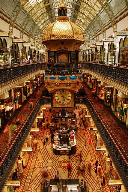 "The Queen Victoria Building, in Sydney, has been Heralded by Pierre Cardin as ""the most beautiful shopping centre in the world"". #Australia"