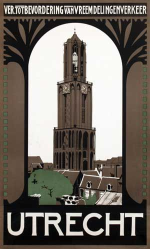 Vintage Travel Poster - UTRECHT - The Netherlands.