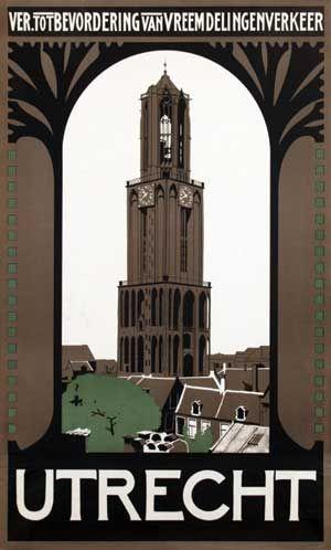 Vintage Travel Poster - UTRECHT - The Netherlands.