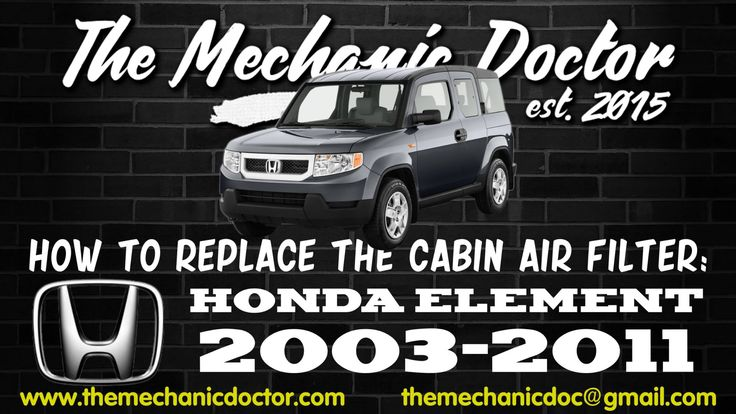This video will show you step by step instructions on how to replace the cabin air filter on a Honda Element 2003-2011.