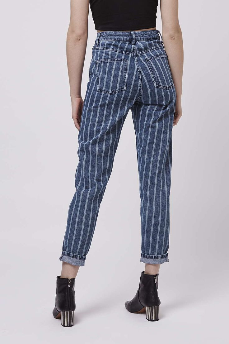MOTO Indigo Stripe Mom Jeans - Jeans - Clothing | Fashion ...