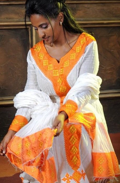 Habesha traditional dresses habesha eritrean for Denim wedding dresses for sale