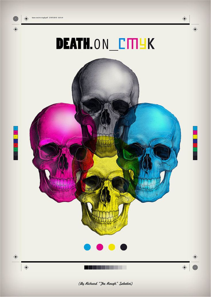 DEATH ON CMYK by ~RichardTheRough on deviantART