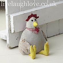 Fabric Hen Doorstop - cute in the pantry