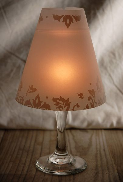 176 best images about candles on pinterest mercury glass for Wine glass lamp centerpiece