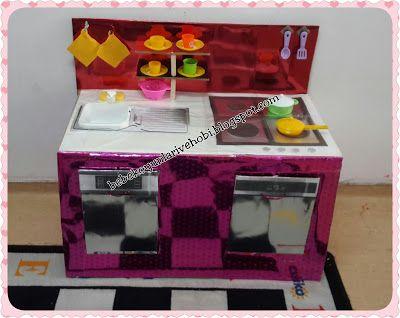 Elifce Bebek Oyunları ve Hobi: Karton kutudan mutfak köşesi yapımı (okul öncesi 3...