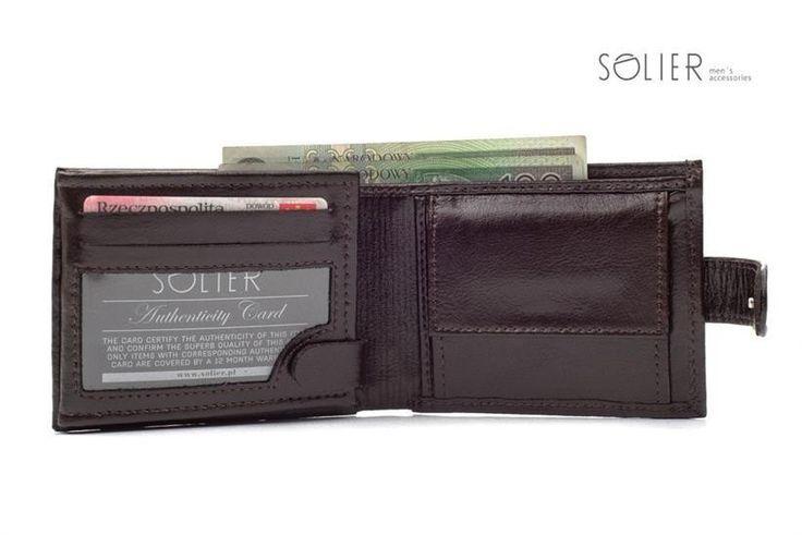 portfel męski skórzany Solier #Solier tutaj: http://mironti.pl/product-pol-1987-Elegancki-brazowy-skorzany-meski-portfel-SOLIER-SW03.html