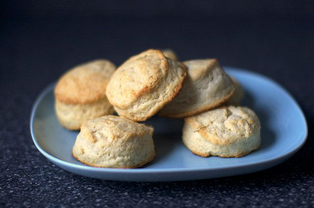 Cream biscuits [Tested: Best way to use up leftover heavy cream: Make the dough, form the biscuits, and freeze for fresh, delicious biscuits anytime!]