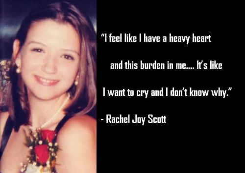 rachel scott chain reaction essay Rachel scott was the first person killed at columbine high school on april 20,  1999  the program challenges students and adult to start a chain reaction and   rachel's essay:   php.
