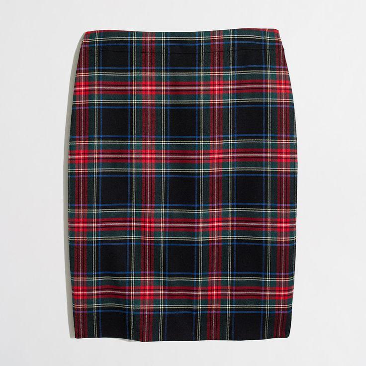 Factory plaid tartan skirt : pencil   J.Crew Factory clueless