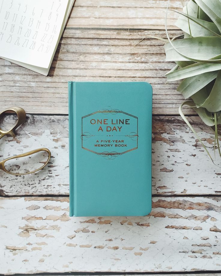 Love this book - write just one line a day for 5 years worth of memories!