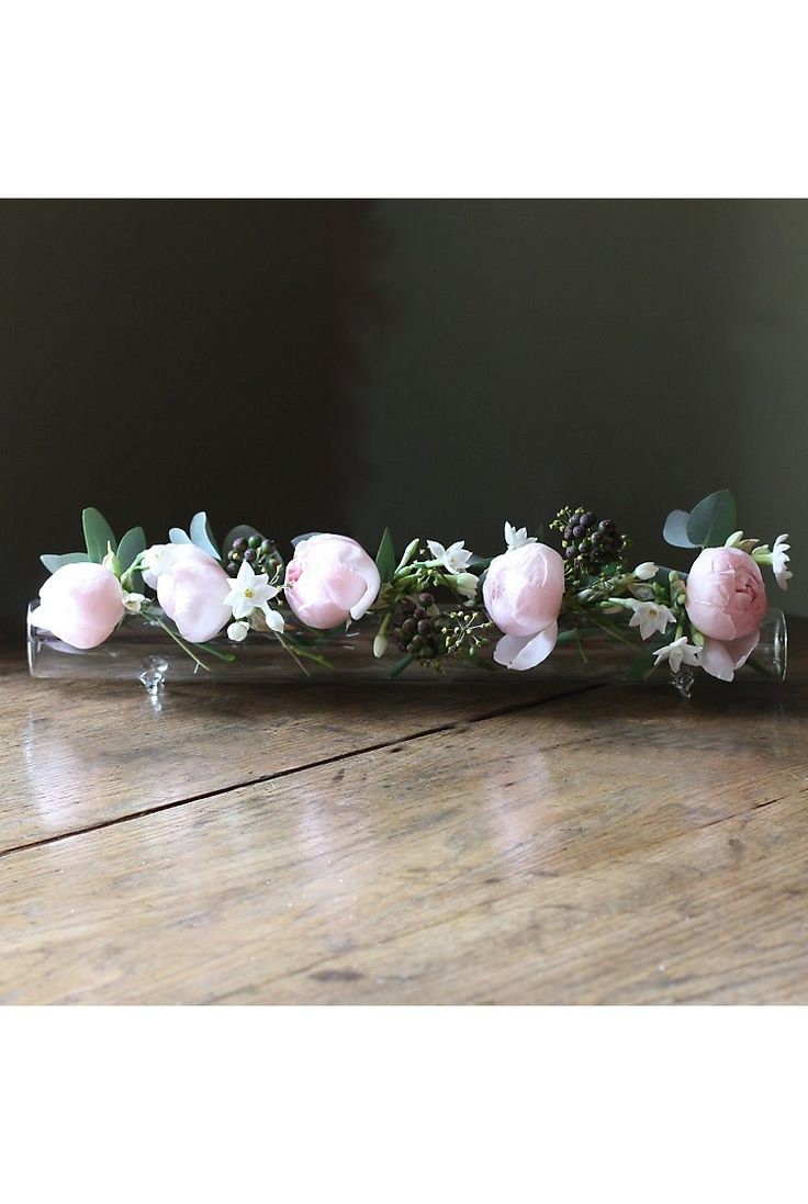 THE REAL FLOWER COMPANY - Glass Flower Table Display Tube | Selfridges.com