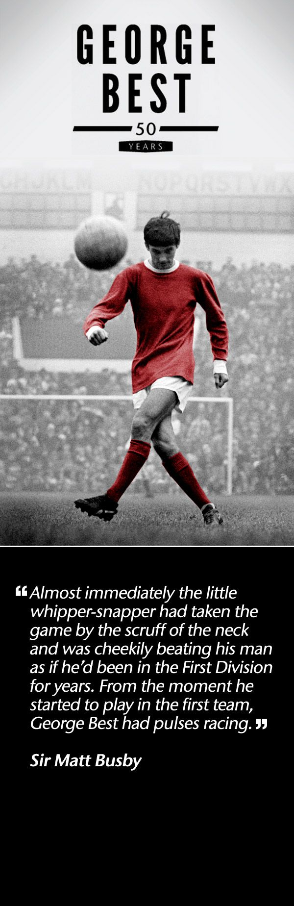 ManUtd.com marks 50 years since George Best made his Manchester United debut, beginning with a look back at his first season with the Old Trafford club.