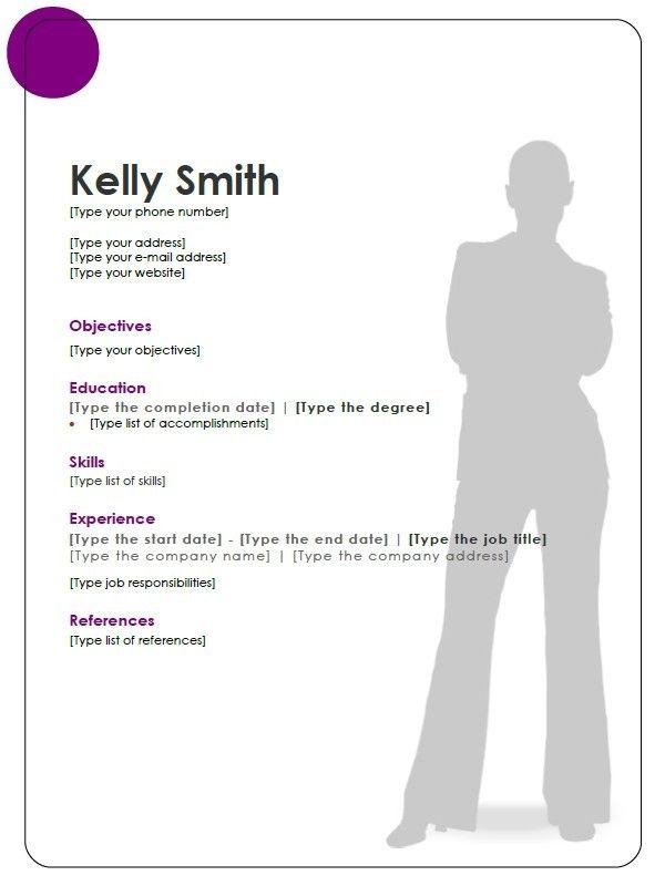openoffice resume template