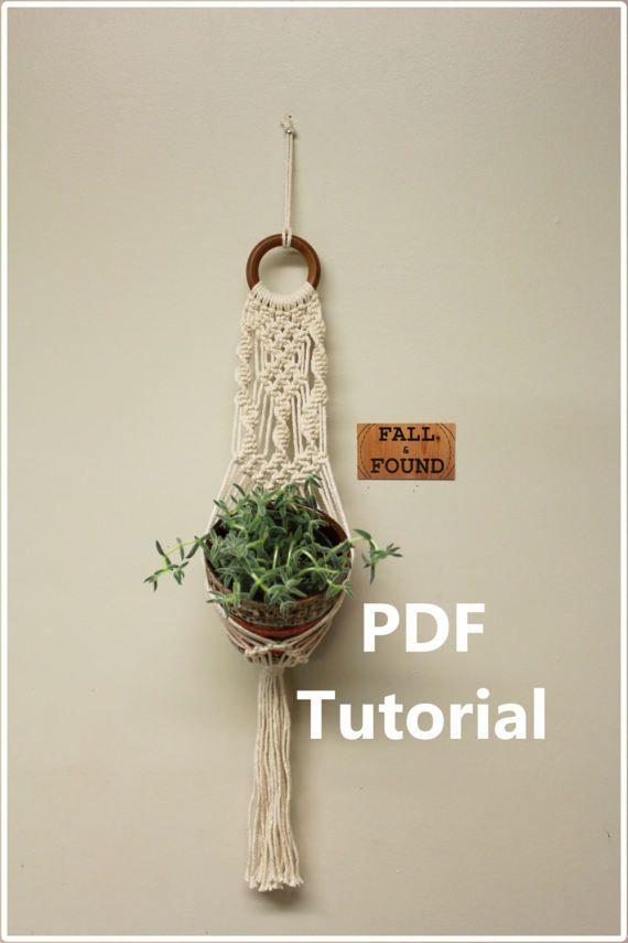 #Macrame #Plant Hanger Pattern  PDF Tutorial by #fallandFOUND on Etsy