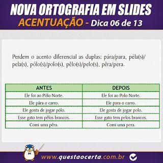 PoRtUgUêS nA TeLa: NOVA ORTOGRAFIA - Dica 06 de 13 - Acentuação (Part...