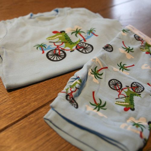 Dinosaur on a Bicycle http://mrmoopu.com/product/dinosaur-shorts-t-shirt/ Available in sizes for babies and toddlers