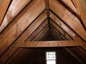 8 best images about collar ties on pinterest for Cathedral ceiling trusses