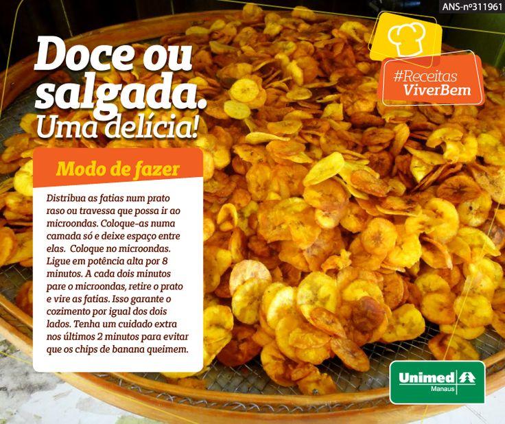 Essa receita a banana pacovan é feita no microondas. Sem óleo, mas bem crocante. Receitas saborosas e saudáveis  #esseéoplano  #unimedmanaus